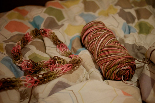 First Time Finger Knitting 11