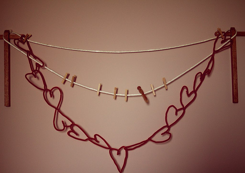 Easy Heart Garland 10